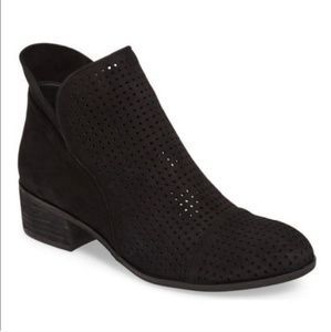 Sam Edelman Leather Suede Black Ankle Boot
